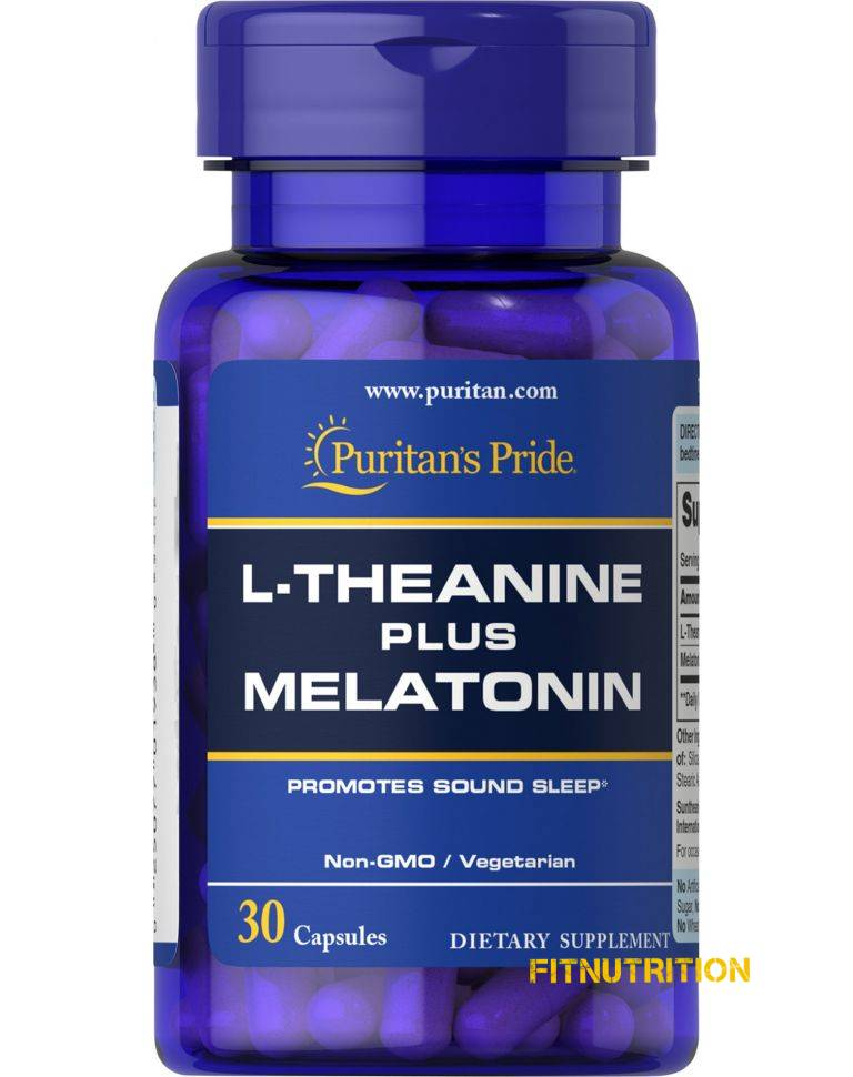L-Theanine Plus Melatonin Puritan's Pride 30 капс